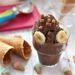Süzme Yoğurtla Muzlu Kakaolu Dondurma