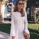 White Lace Dress & Ata-Bag