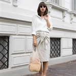 WICKELROCK OUTFIT MIT CHANEL SLINGPUMPS
