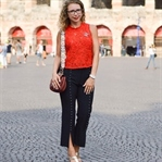 Allover Zara Outfit mit Spitze & Perlen in Verona