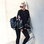 Black Skinny Jeans & Statement Sleeves