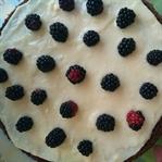 Böğürtlenli, Beyaz Çikolatalı Pasta