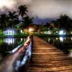 Die Lagune von Bacalar, Mexiko