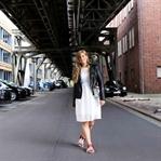 Fashion Week Outfit: weißes Spitzenkleid
