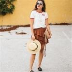 Frilled Skirt, Levi's Shirt