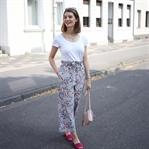 Geblümte Culottes mit Pinken Details