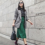 Herbst Outfit mit A-Linien-Rock