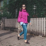 Herbst Outfit mit Strickpullover