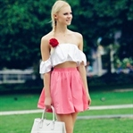 How to wear white and pink outfit for the summer