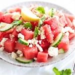 Melonen Feta Salat mit Sesam