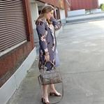 Metallic Mules und Kimono