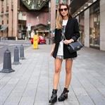 Blazer, Isabel Marant Skirt & Cut-Out Boots