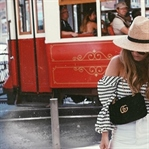 Straw Hat & Bow Slides in Lisbon.