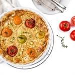 Tomaten-Karotten Quiche mit Thymian
