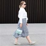 Trend trifft Klassiker: Karo Rock & Weißes Hemd