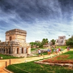 Tulum, Mexico und die Ruinen am Meer