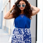 White and Blue Summer Look