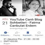 YouTube Canlı Blog Sohbetine Bekliyoruz Sizi