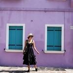 Burano: Black Frilled Dress
