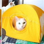 Kendin Yap:Eski Tişörtten Kedi Çadırı Yapımı