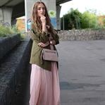 Long dress and parka
