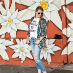 Outfit: casual business mit Blumenblazer