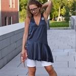 Outfit: Satin Tunika und Rebecca Minkoff Tasche