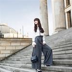 Outfit: Weite High Waist Hose mit Korsettdetail //