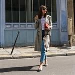 PARIS STREET STYLE OUTFIT MIT KARIERTEM MANTEL