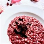 Vegetarisches Rote Beete Risotto mit Granatapfel