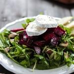Rote Beete Salat mit Ziegenkäse