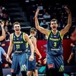 Slovenya'dan İspanyollar'a basketbol dersi