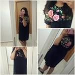 Sonbahar Alışverişleri; Nakış Detaylı Siyah Elbise