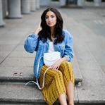 Yellow Culotte and Denim Jacket