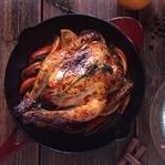 Portakal Soslu Fırında Kızarmış Tavuk