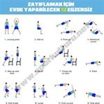 Zayıflamak için evde yapılabilecek 12 egzersiz