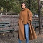 Bayan Camel Palto Modelleri