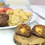 Cheddar Dolgulu Köfte - Bebek Patates İle