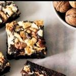 Üç çikolatalı cevizli brownie tarifi