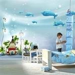 Çocuk Odaları İçin Kreatif Duvar Kağıdı Modelleri