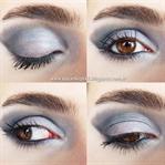 Mavi Tonlarda Göz Makyajı