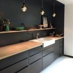 Birbirinden Güzel Siyah Mutfak Dolabı Modelleri