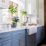Ferahlatıcı Etkisi ile Mavi Mutfak Dolapları
