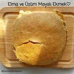 Elma ve Üzüm Mayalı Siyez Unlu Ekmek