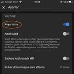 YouTube Dark Mode Android için Yayınlandı