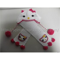 Hello Kitty Atkı Bere Takımı