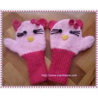 İki Şiş İle Hello Kitty Eldiven Yapımı