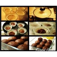 Buharda Pişmiş Çikolatali Top Kekler