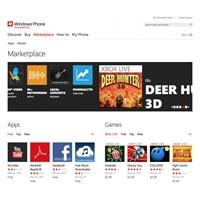 Microsoft Web Tabanlı Windows Phone Marketplace