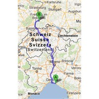 Trenle İtalya'dan Almanya'ya